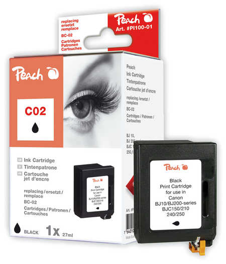 Peach  Druckkopf schwarz kompatibel zu Canon Fax HD 40