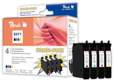 Peach  Spar Pack Tintenpatronen kompatibel zu Epson Stylus S 21