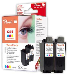 Peach  Doppelpack Tintenpatronen color kompatibel zu Canon S 200 SP