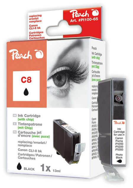 Peach  Tintenpatrone foto schwarz kompatibel zu Canon Pixma Pro 9000 Mark II