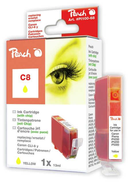 Peach  Tintenpatrone gelb kompatibel zu Canon Pixma Pro 9000 Mark II