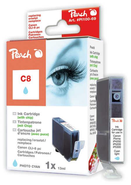Peach  Tintenpatrone photo cyan kompatibel zu Canon Pixma Pro 9000 Mark II