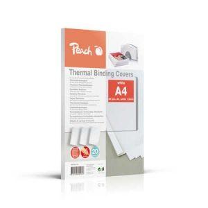Peach  Thermobindemappe weiss für 15 Blätter (A4, 80g/m2), 20 Stück - PBT301-01