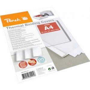 Peach  Thermobindemappe weiss für 30 Blätter (A4, 80g/m2), 20 Stück - PBT303-01