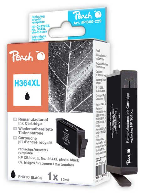 Peach  Tintenpatrone foto schwarz kompatibel zu HP PhotoSmart Premium Fax C 309 a