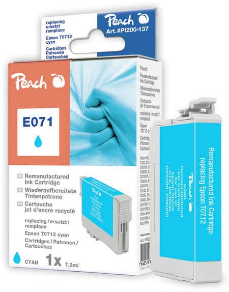 Peach  Tintenpatrone cyan kompatibel zu Epson Stylus S 21