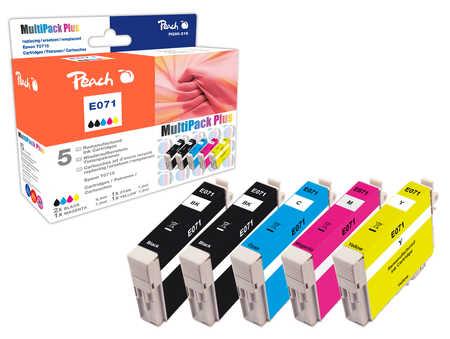 Peach  Spar Pack Plus Tintenpatronen kompatibel zu Epson Stylus S 21