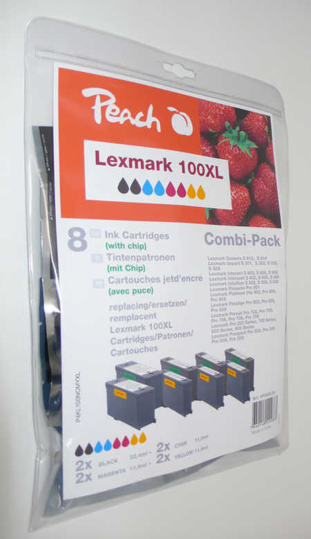 Peach  Spar Pack Tintenpatronen kompatibel zu Lexmark Intuition S 508