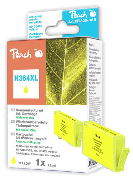 Peach  Tintenpatrone gelb kompatibel zu HP PhotoSmart Premium Fax C 309 a