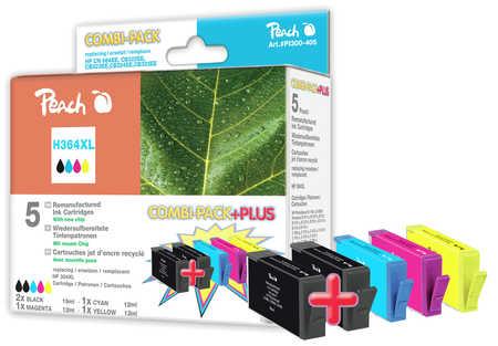 Peach  Spar Pack Plus Tintenpatronen kompatibel zu HP PhotoSmart Premium Fax C 309 a
