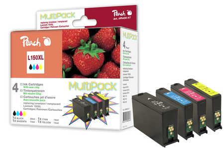 Peach  Spar Pack Tintenpatronen, XL-Ergiebigkeit, kompatibel zu Lexmark Pro 915