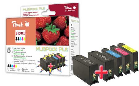 Peach  Spar Plus Pack Tintenpatronen, XL-Ergiebigkeit, kompatibel zu Lexmark Pro 915