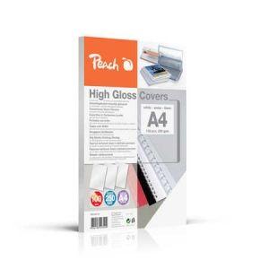 Peach  Einbanddeckel hochglänzend, 250 g/m2, A4, weiss, 100 Blatt