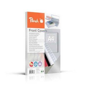 Peach  Klarsicht Einbanddeckel, farblos, 0.18mm, A4, 100 Blatt