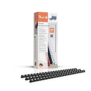 Peach  Binderücken 10mm, für je 65 Blatt A4, schwarz, 100 Stück - PB410-02