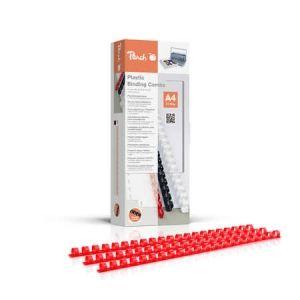 Peach  Binderücken 10mm, für je 65 Blatt A4, rot, 100 Stück - PB410-03