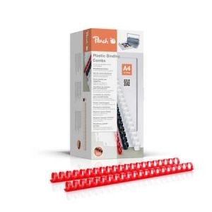 Peach  Binderücken 16mm, für je 145 Blatt A4, rot, 100 Stück - PB416-03
