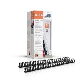 Peach  Binderücken 22mm, für 210 Blatt A4, schwarz, 50 Stück, PB422-02