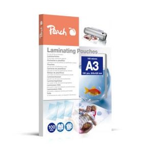 Peach  Laminierfolien A3, 100 mic, glänzend, PP500-01, 100 Stk.