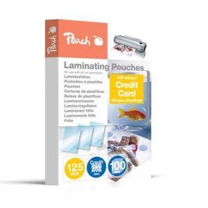 Peach  Laminierfolien für Kreditkarten (54x86mm), 125 mic. glänzend, PP525-07, 100 Stk.