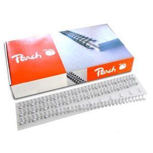 Peach  Drahtbinderücken 14mm weiss, 3:1', 34 Ringe A4, 100 Stk. PW143-02