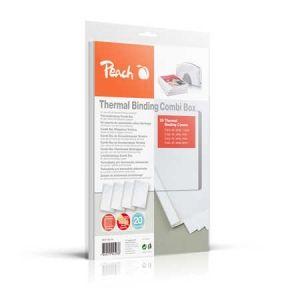 Peach  Thermobindemappen Combi Box für 20 Bindemappen (je 15-60 Blatt A4, weiss) - PBT100-14