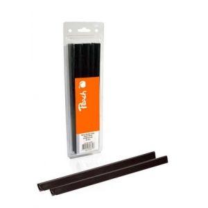 Peach  Plastik Klemmschienen, 10mm, schwarz, 25 Stk., R-PBS410-02